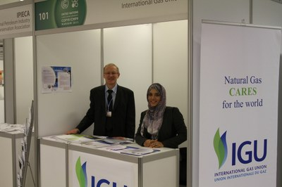 IGU booth at COP 19