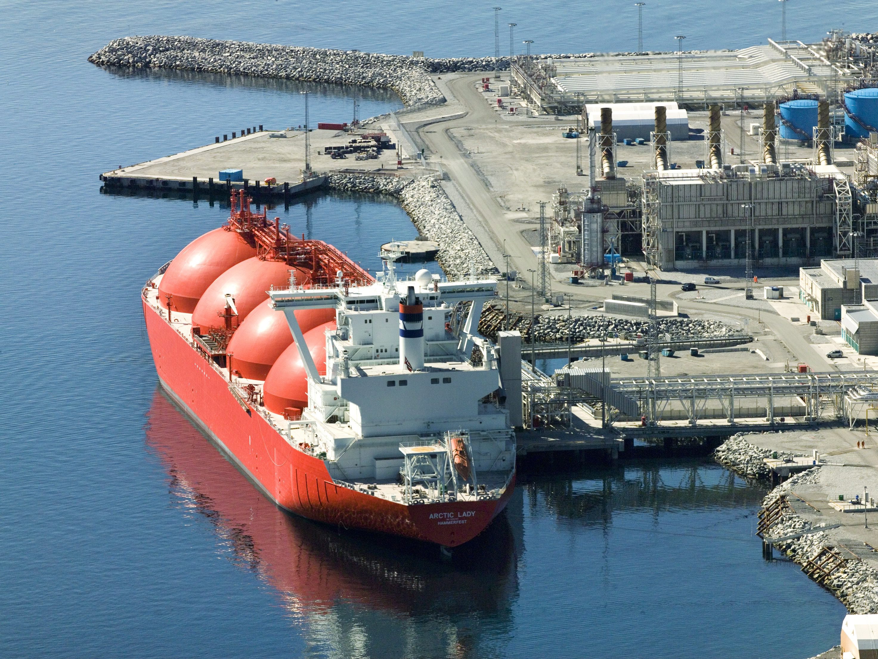 Hammerfest Norway  City pictures : LNG ship in Hammerfest. Norway
