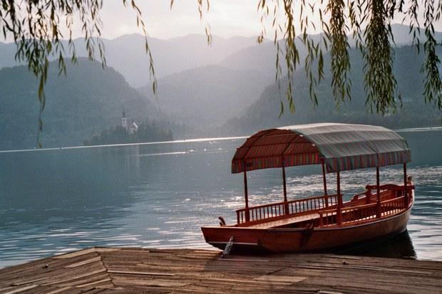 Lake bled boat mooring