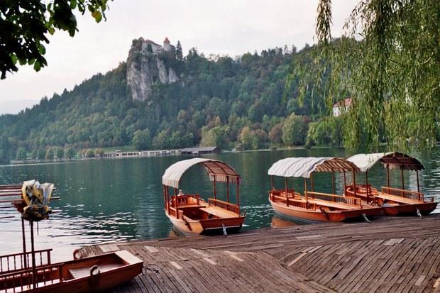 Lake Bled boat mooring & castle