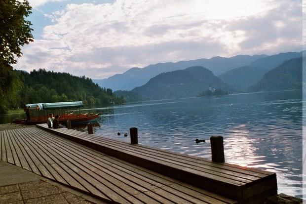 Lake bled boat mooring & island